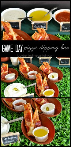 Game Day Pizza Dipping Bar | Pump it up this year and add a dipping bar to your game day menu!