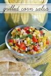 Grilled Corn Salsa | This salsa is sweet and savory at the same time with under tones of smokiness from the grilled corn.
