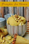 Homemade Pumpkin Ice Cream Recipe | Like eating a cold rich thick pumpkin pie.