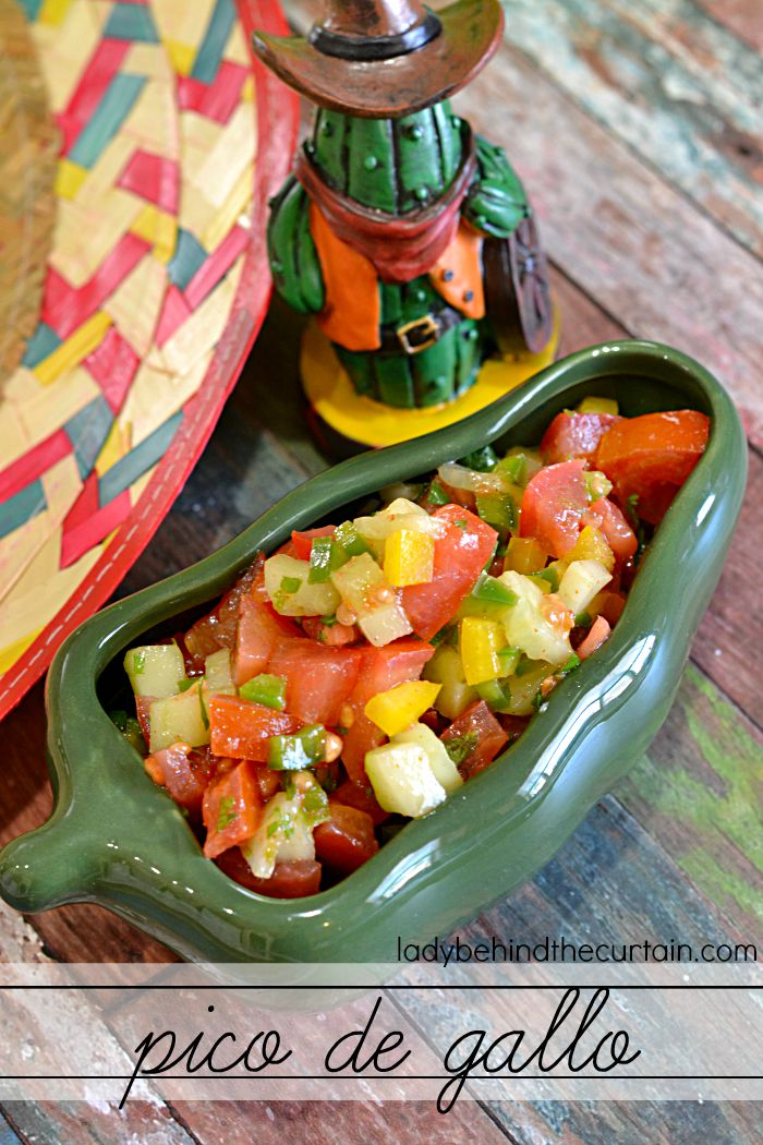 Pico de Gallo | A unique combination of tomatoes, sweet peppers, jalapenos and cucumber.