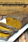 Pumpkin Bread with Spicy Dark Chocolate Frosting