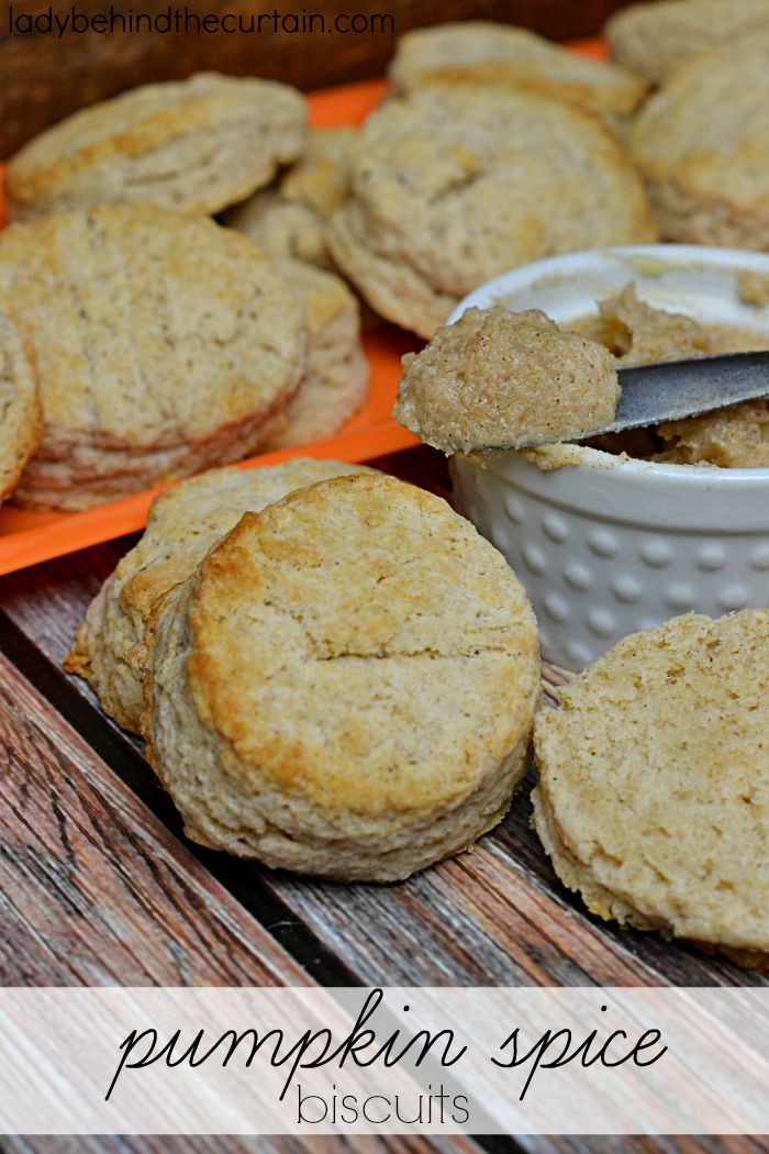 Pumpkin Spice Biscuits | These light and fluffy biscuits are even better slathered with my Pumpkin Spice Butter!