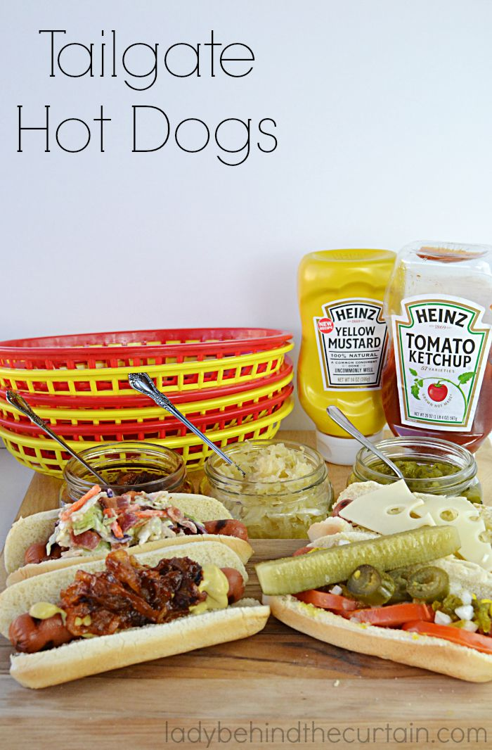 Tailgate Hot Dogs | Four different kinds of hot dogs great for game day or a tailgating party.