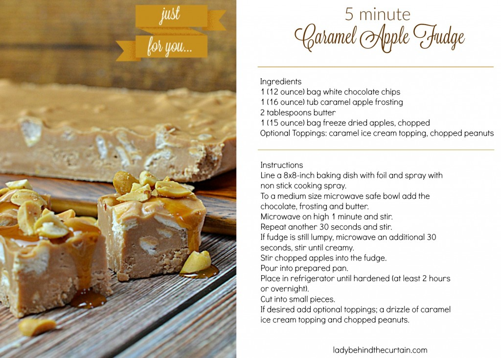 5 Minute Caramel Apple Fudge Recipe Card 3