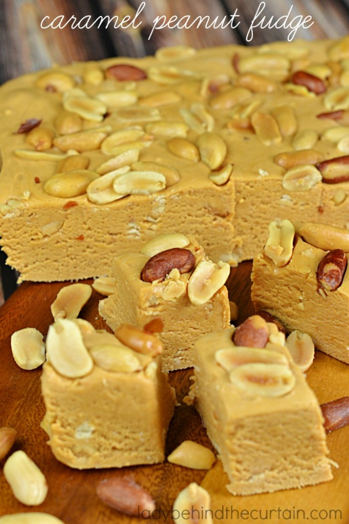 Caramel Peanut Fudge | This fudge is my nod to my favorite Payday candy bar.