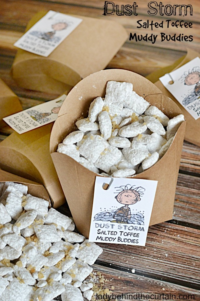 Dust Storm Salted Toffee Muddy Buddies | A delicious sweet and salty treat that can be made in just minuets!