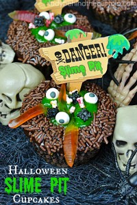 Slime Pit Halloween Cupcakes | Creepy and gross that's exactly what I love about Halloween Party desserts!