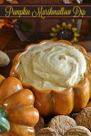 Pumpkin Marshmallow Dip | Add this dip to your Holiday dessert table or take it with you to a party.