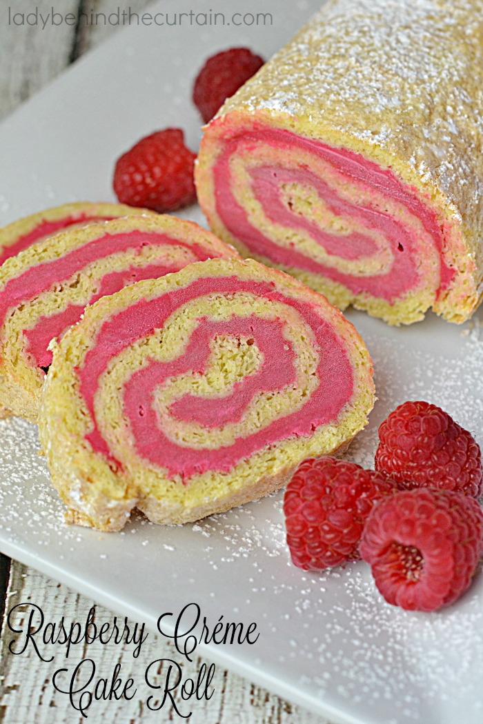 Raspberry Créme Cake Roll   Present this remarkable cake as your grand finale after a delicious meal!