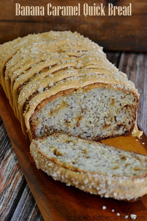 Banana Caramel Quick Bread