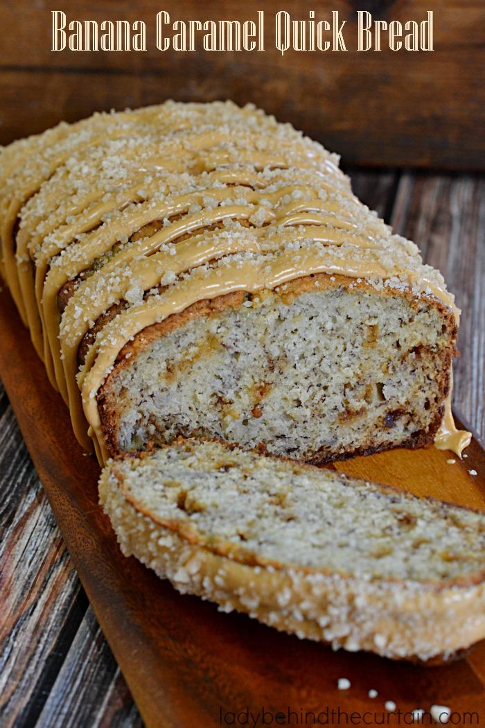 Banana Caramel Quick Bread
