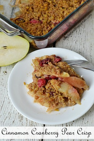 Cinnamon Cranberry Pear Crisp | Finish off your holiday meal with this delicious and easy to make crisp, filled with the flavors of the season.