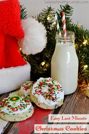 Easy Ladt Minute Chirstmas Cookies | Set these fun colorful cookies out for Santa!