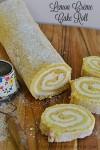 Lemon Créme Cake Roll | A light and fluffy sponge cake with a delicious easy to make lemon créme filling.
