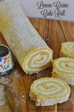 Lemon Créme Cake Roll
