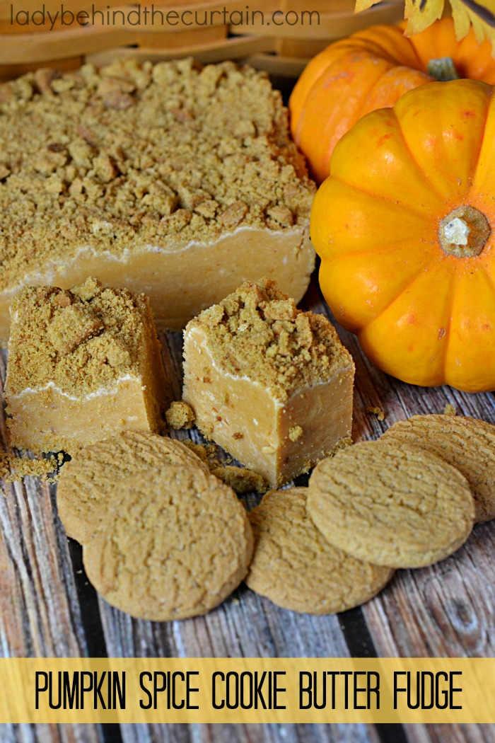 Pumpkin Spice Cookie Butter Fudge   This fudge brings pumpkin pie to a whole other level.