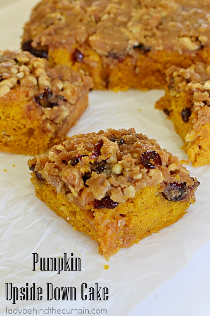 Pumpkin Upside Down Cake | There is only ONE flavor that screams autumn and that's non other then PUMPKIN!