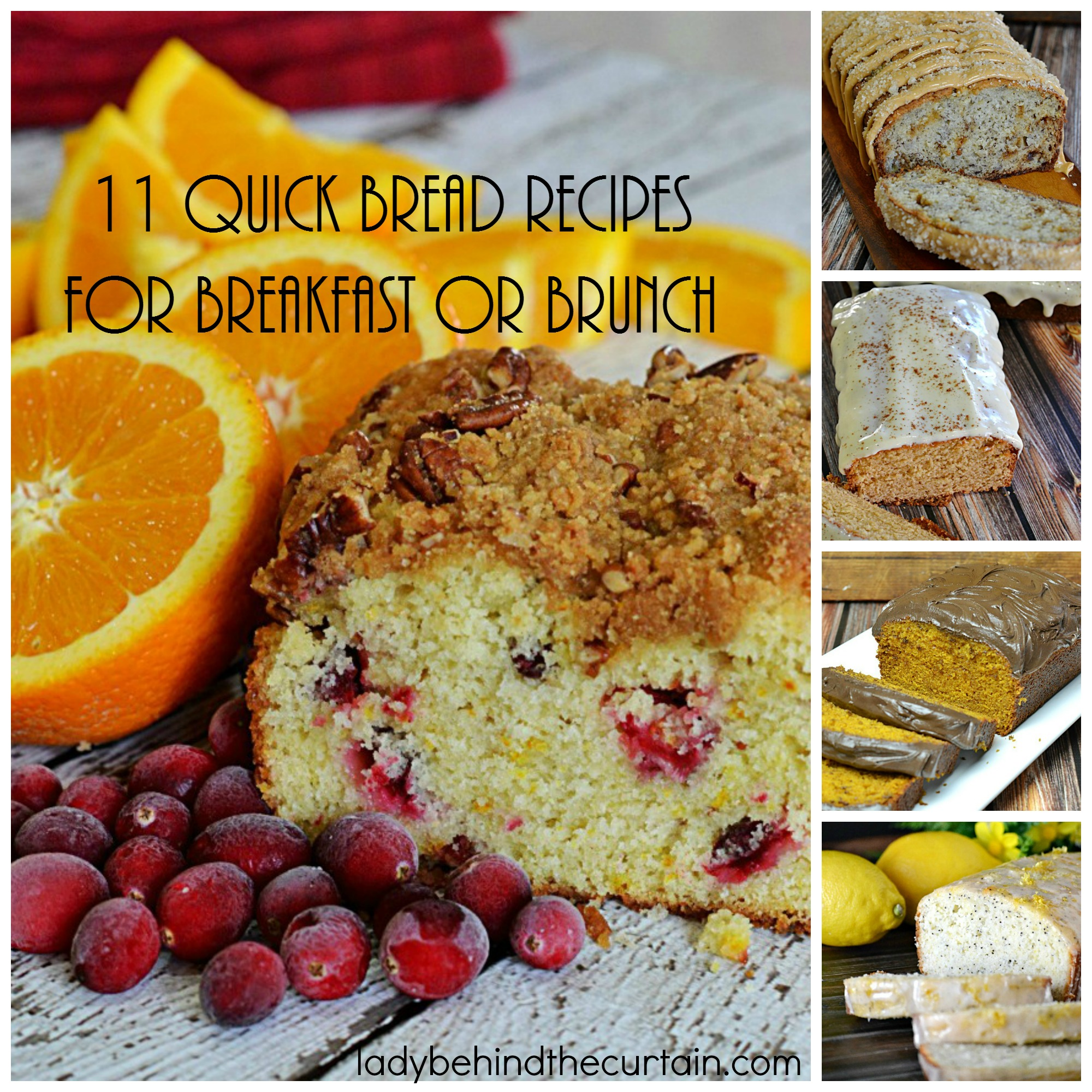 11 Quick Bread Recipes for Breakfast or Brunch | Quick breads serve so many needs. You can make several flavors, freeze them all and serve them as needed.