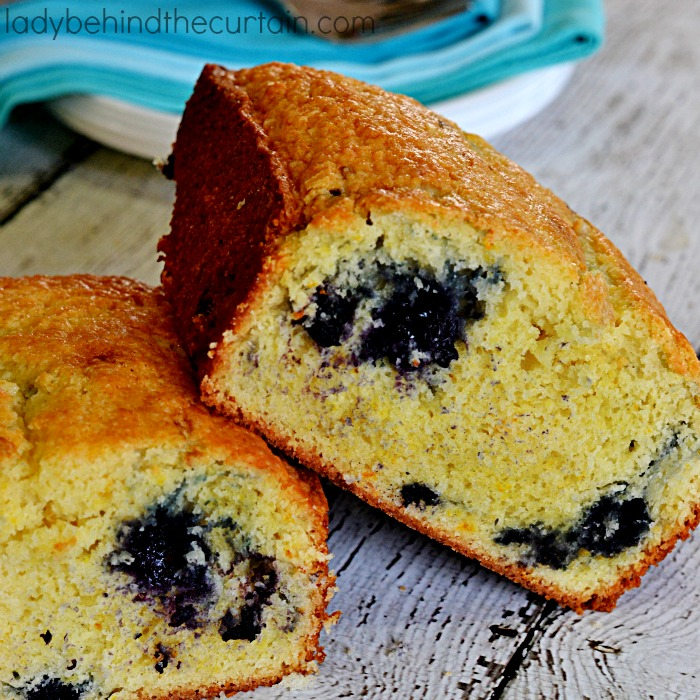 Blueberry Orange Quick Bread | Instead of making Cranberry Orange bread how about changing it up with blueberries?