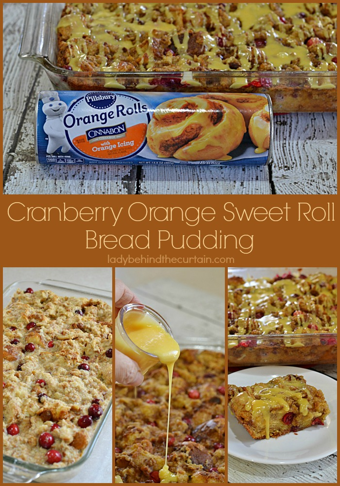 Christmas Morning Cranberry Orange Sweet Roll Bread Pudding | With just the right amount of sweetness to help you create a new holiday tradition!