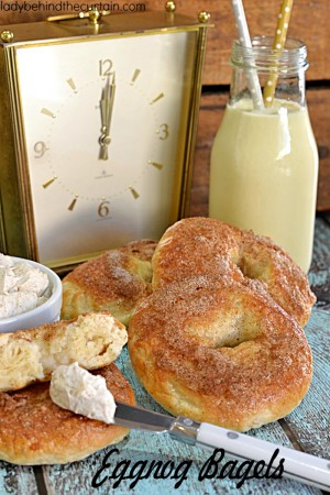 Eggnog Bagels | Ring in the New Year with Eggnog! Eggnog bagels that is. These tender bagels are perfect in every way.
