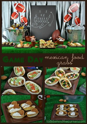 Game Day Mexican Food Grabs | Oh my gosh! Is there anything better then game day food? It's the one time all your favorite foods are on one table in mini form so you can HAVE THEM ALL!