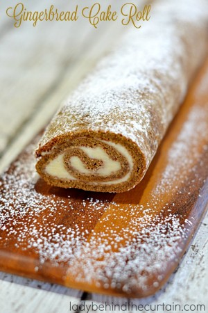 Gingerbread Cake Roll |Gingerbread becomes something special when filled with a homemade Almond Pastry Cream!