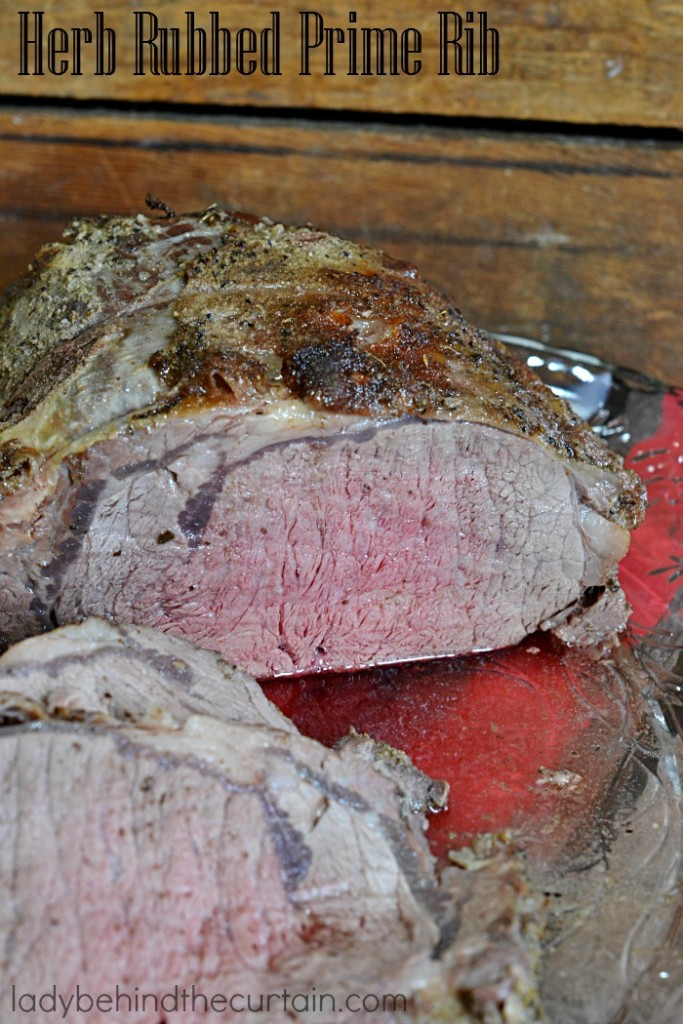 Herb Rubbed Prime Rib | This juicy flavorful Prime Rib is for when you want to pull out all the stops and celebrate in style!