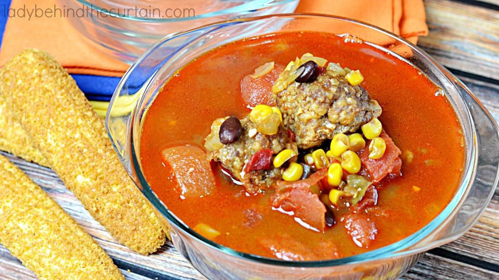 Mexican Meatball Soup | Warm up with this delicious soup full of flavorful and satisfying ingredients.