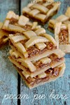 Pecan Pie Bars | The same great ingredients from your favorite pie transformed into a bite size bar!