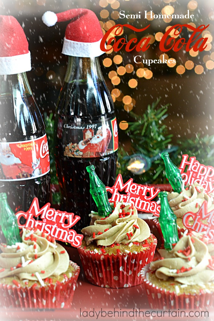 Semi Homemade Coca Cola Cupcakes | The best of both worlds! Your favorite drink in the form of a cupcake! Celebrate the season like Santa does with Coke®!
