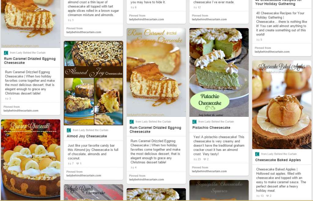 Lady Behind The Curtain Pinterest Cheesecake Board