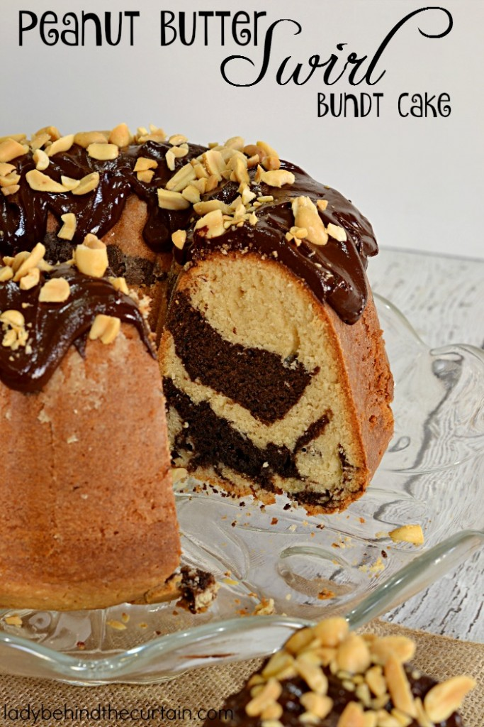 Peanut Butter Swirl Bundt Cake | An awesome cake with swirls of chocolate and peanut butter.