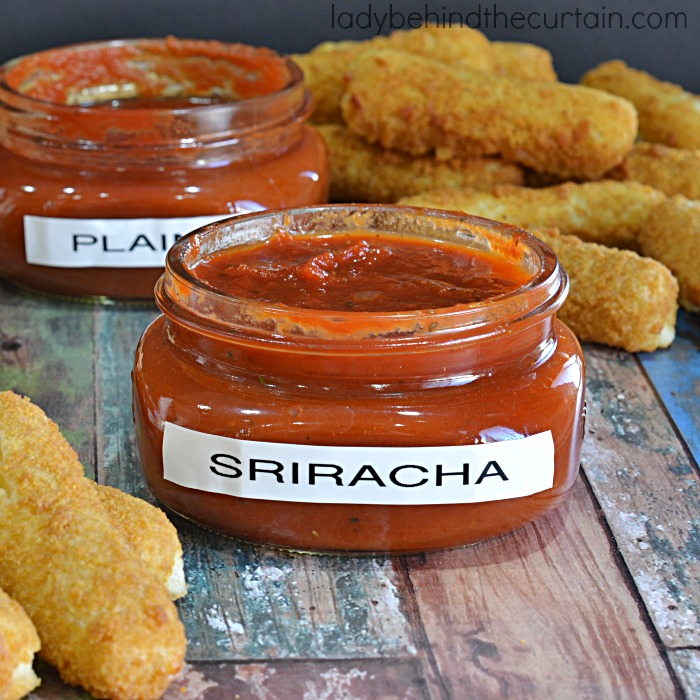 Semi Homemade Sriracha and Ranch Marinara Dipping Sauce | Create delicious dipping sauces starting with your favorite store bought sauce.