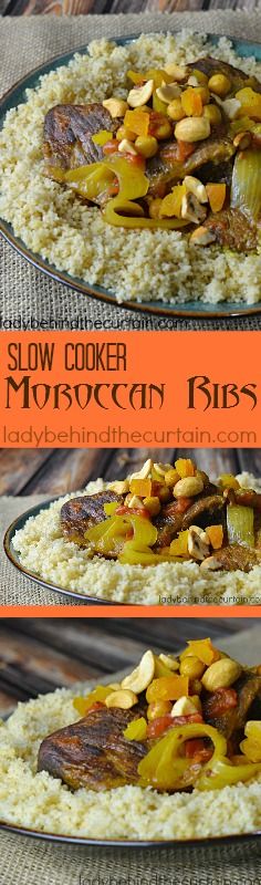 Slow Cooker Moroccan Ribs | Let your slow cooker do all the work! Create a delicious meal with a Moroccan flair.