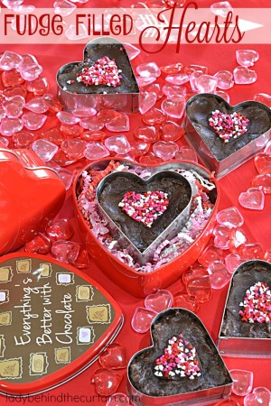 Fudge Filled Hearts