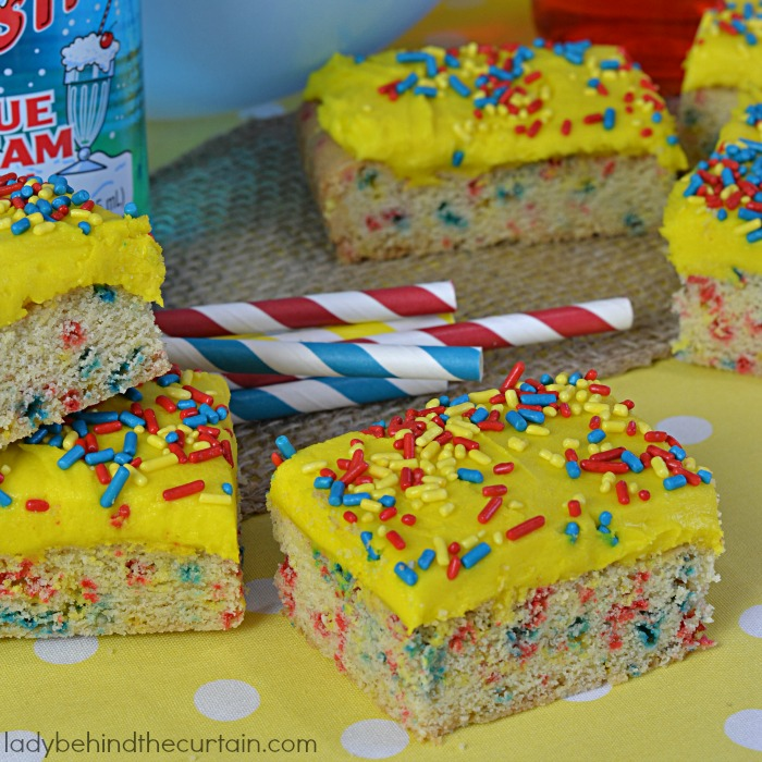 Funfetti Sugar Cookie Bars