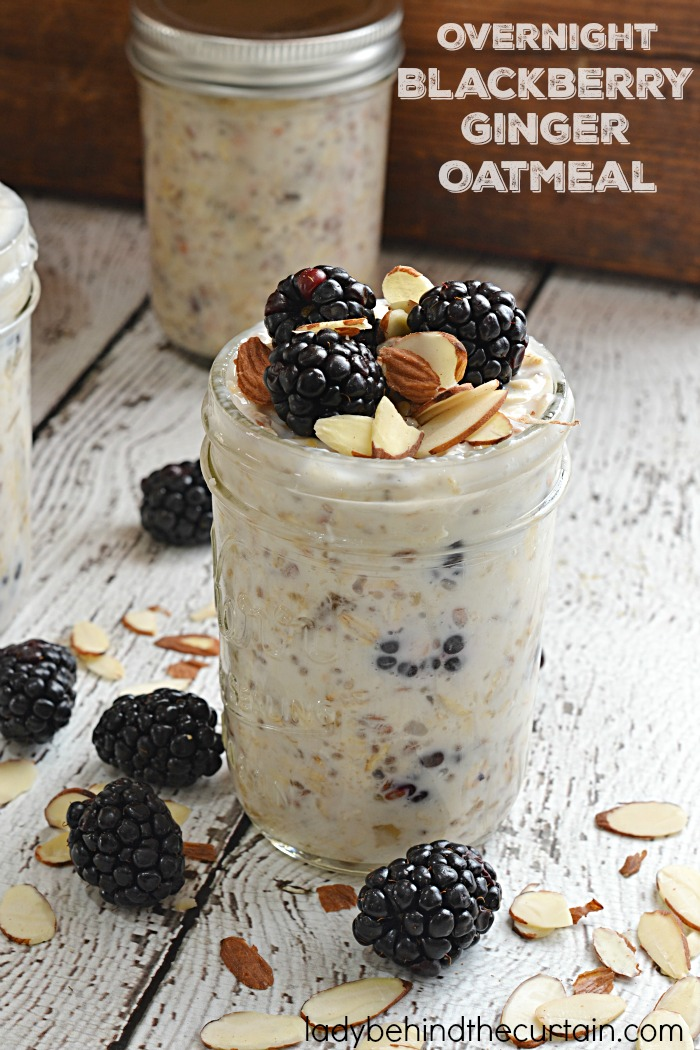Overnight Blackberry Ginger Oatmeal