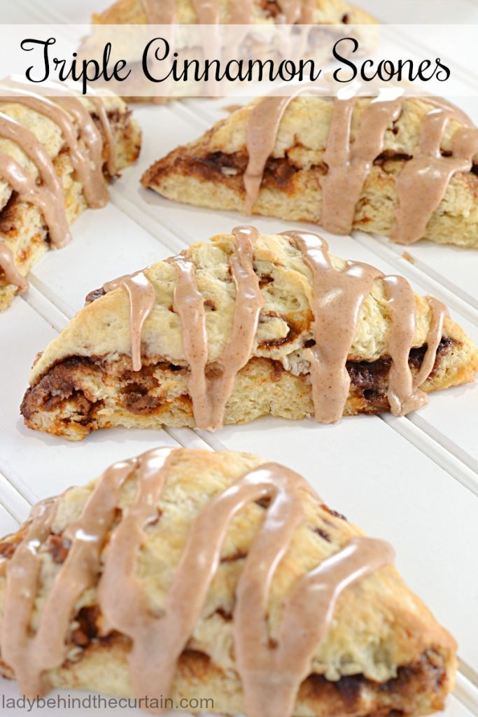 Triple Cinnamon Scones