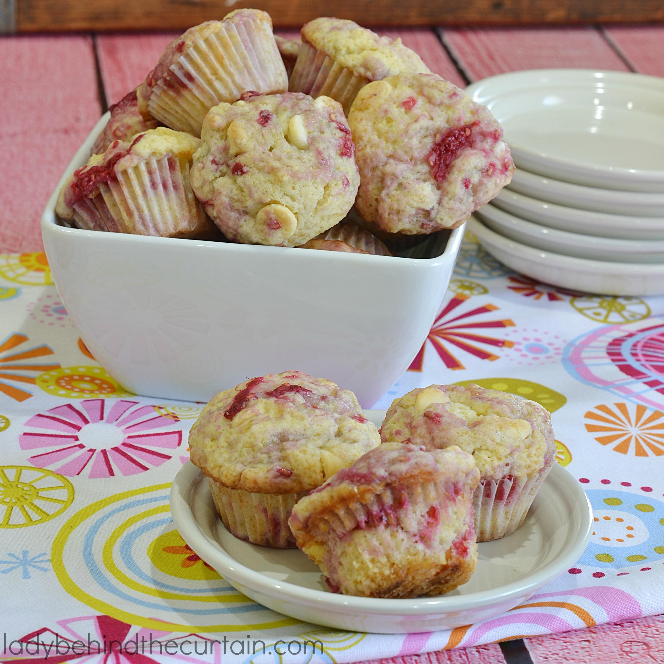 White Chocolate Raspberry Mini Muffins
