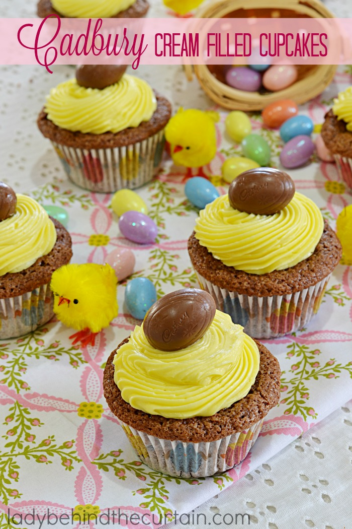 Cadbury Cream Filled Cupcakes