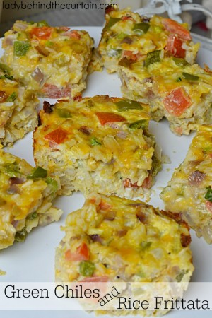 Green Chiles and Rice Frittata
