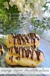 Orange Cream Chocolate Eclairs