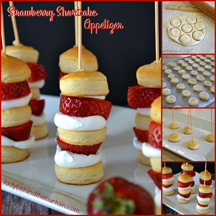 Strawberry Shortcake Appetizer | Surprisingly easy but equally delicious. This Strawberry Shortcake Kabobs can be served as an appetizer or dessert!