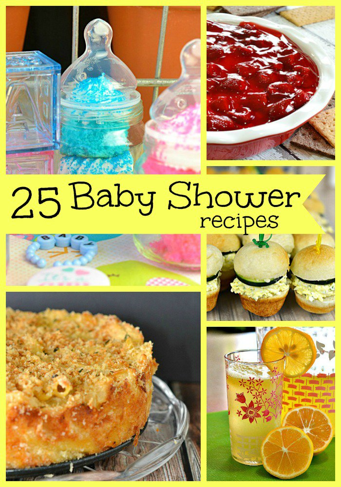 25 Baby Shower Recipes | Whether the shower is for a brunch, lunch or mid afternoon this round up has it all. It totally saved my baby shower!