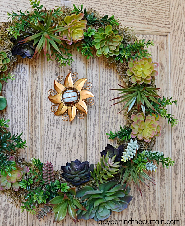 I Got The Succulents DIY Artificial Succulent Front Door Wreath | The  Perfect Summer Wreath! I Got The Succulents