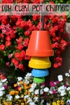 DIY Clay Pot Chimes | Add a pop of color to your backyard with these easy to make chimes. So much Summertime fun!