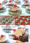 Mason Jar Lid Black Forest Cakes   These super fun little cakes made in a wide mouth mason jar lid scream PARTY!