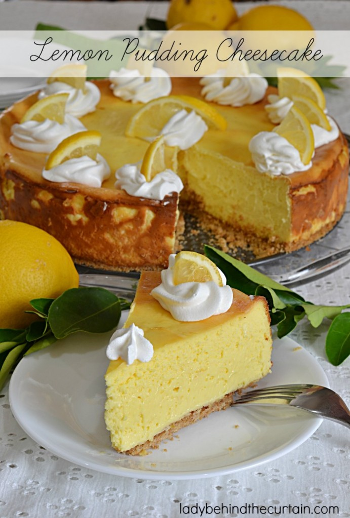 Lemon Pudding Cheesecake   The creaminess of this cheesecake can't be beat with a light flavor of lemon. Serve up summer in style with this light cheesecake. Birthday parties, Mother's Day, Easter......simply the BEST anytime dessert!