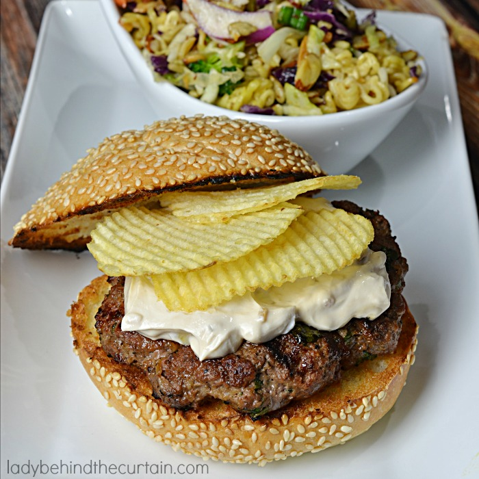 Onion Dip Burgers | Oh my Gosh this is the BEST recipe EVER! Fire up the grill and make these delicious burgers. Perfect for your summer barbecue.
